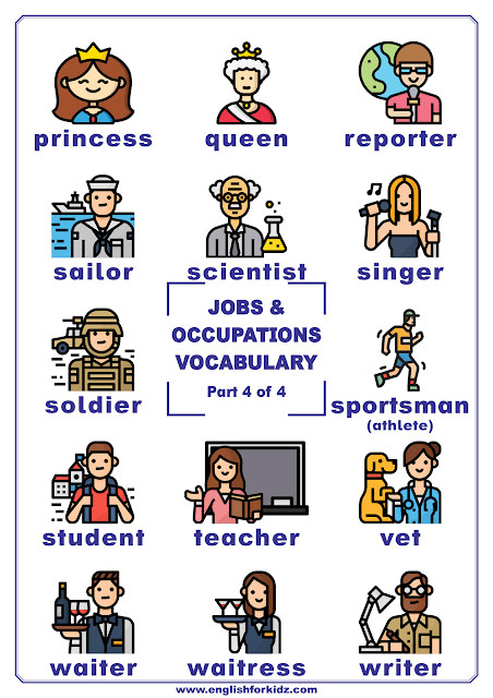 Professions vocabulary poster