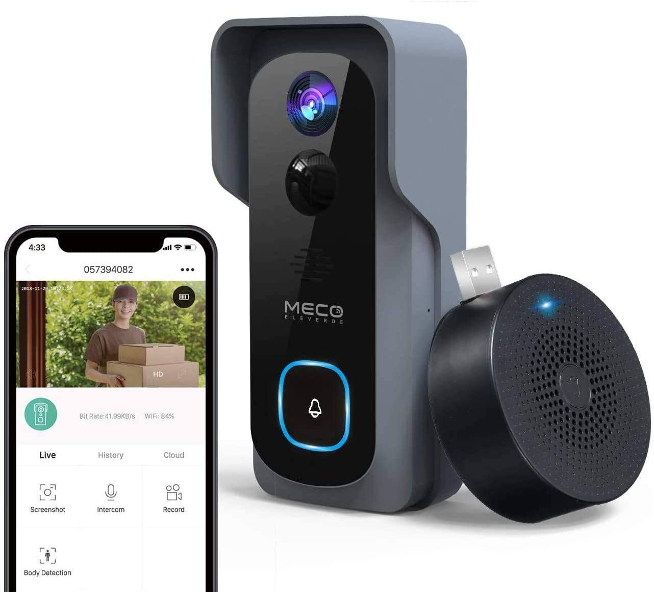 HS-IV-1007 - MECO 1080P Timbre de Video WiFi