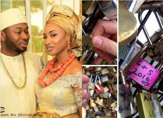 Image result for tonto dikeh and hubby lock love paris