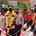 Plt Bupati Pulpis Pudjirustaty Narang saat menyambut kedatangan Kapolres Pulpis yang baru AKBP Kurniawan Hartono SIK