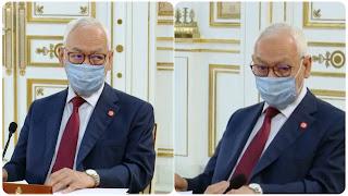 صورة اليوم : نظرة الغنوشي إلى سعيد خلال إجتماع مجلس الأمن القومي إنعقد
