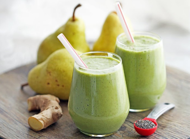 Pear Ginger Smoothie #drinks #smoothies