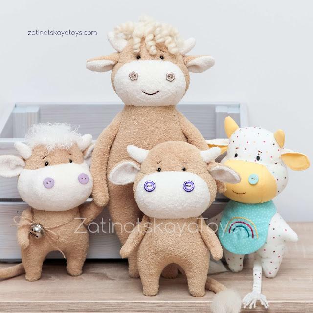 игрушка бык с бычками