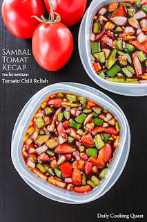 buah tomat untuk bahan sampuran sambal