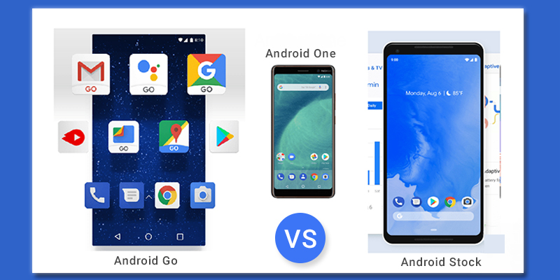 Android Go, Android One, Stock Android: The Difference
