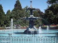 The Peacock Fountain - Christchurch Botanic Gardens, New Zealand