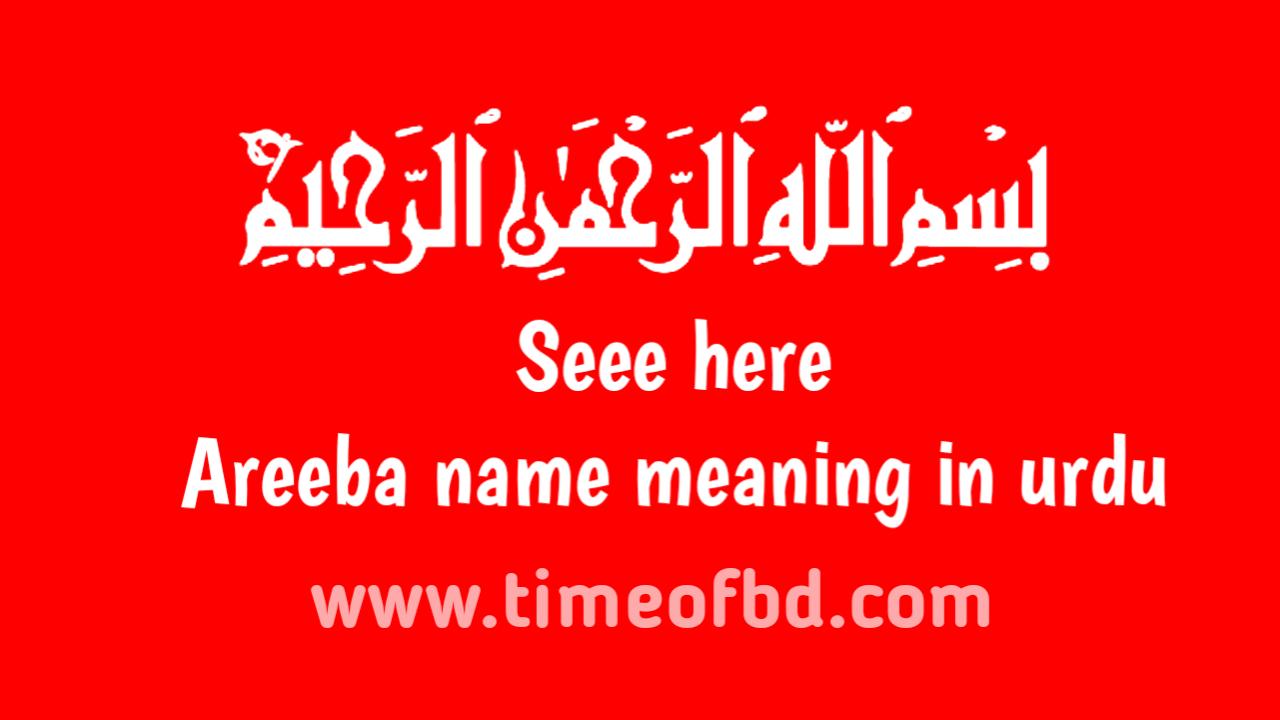 Areeba name meaning in urdu, عریبہ کا معنی اردو میں ہے