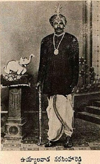 Ten years before the first Indian War of Independence in 1857, Uyyalawada Narasimhareddy was a Telugu hero who revolted against the British.