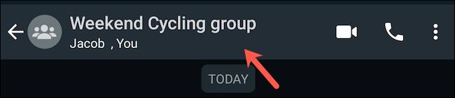قم بزيارة ملف تعريف مجموعة WhatsApp