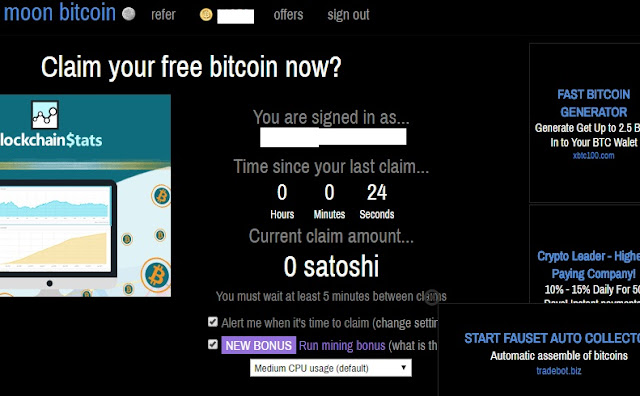 How to earn free bitcoins online