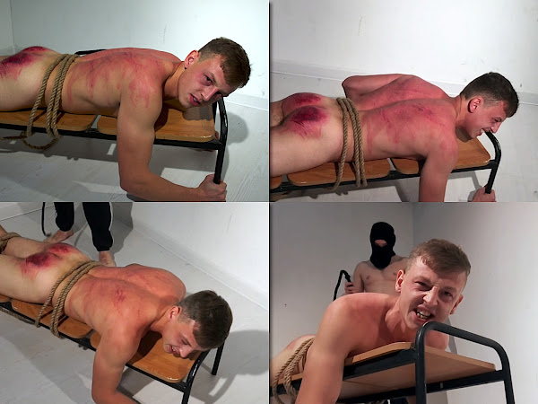 #RusStraightGuys - Extreme back whipping for Artemka 20 y.o.