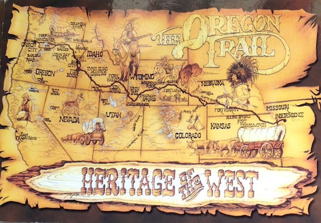 Stamped Postcards from USA, featuring The Oregon Trail