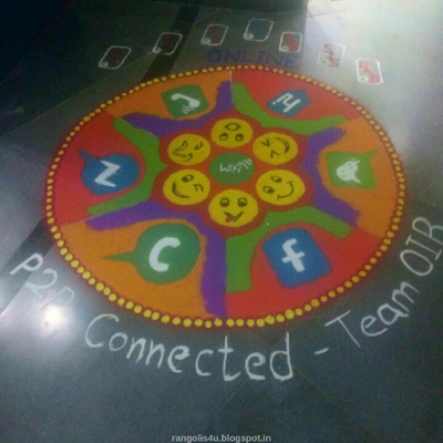 Facebook Rangoli Designs