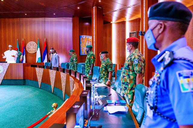 Just In! Pres. Buhari Presiding Over The National Security Council Meeting