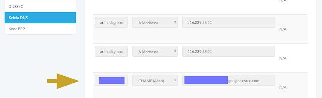 Cara Membuat Sub Domain dari Custom Domain Blogger