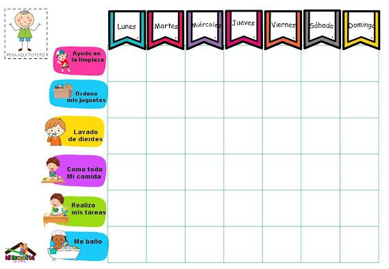 tabla de incentivos para niños