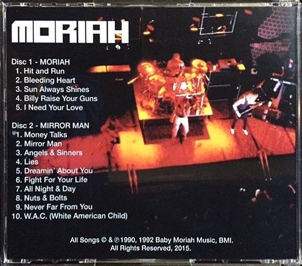 MORIAH - Moriah EP + Mirror Man [2-CD digitally remastered reissue] (2016) back