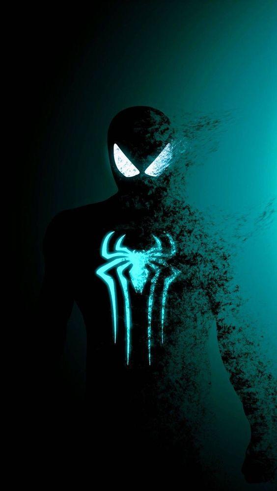 Spiderman htam putih