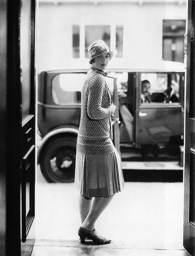 1920s Fashion Service Magazine June 1928 Bathing Suit: Women's Street Fashion Of The 1920s