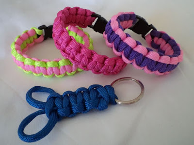 Paracord projects crafted by eSheep Designs
