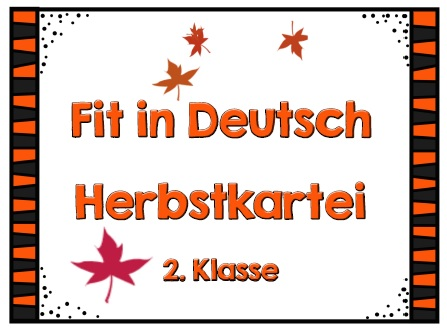 Grundschultante Herbstkartei Deutsch
