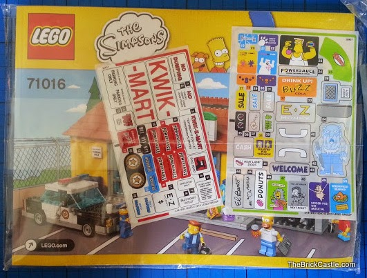 LEGO The Simpson's Kwik E Mart Review set 71016 box contents