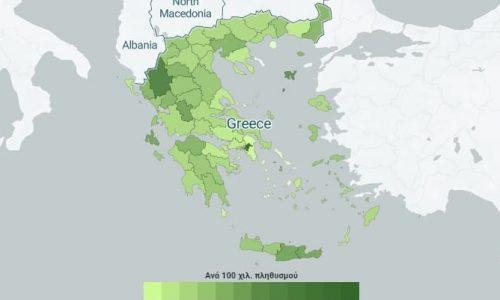 Μία από τις τρεις πρώτες θέσεις στον χάρτη των εμβολιασμών κατέχουν τα Γιάννινα. Τις δύο άλλες έχει ο βόρειος και ο κεντρικός τομέας της Αθήνας.