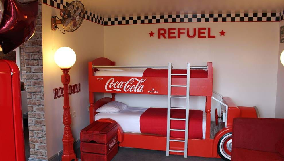 The Best Themed Hotels for Families in the UK - Coca Cola Suite at Alton Towers
