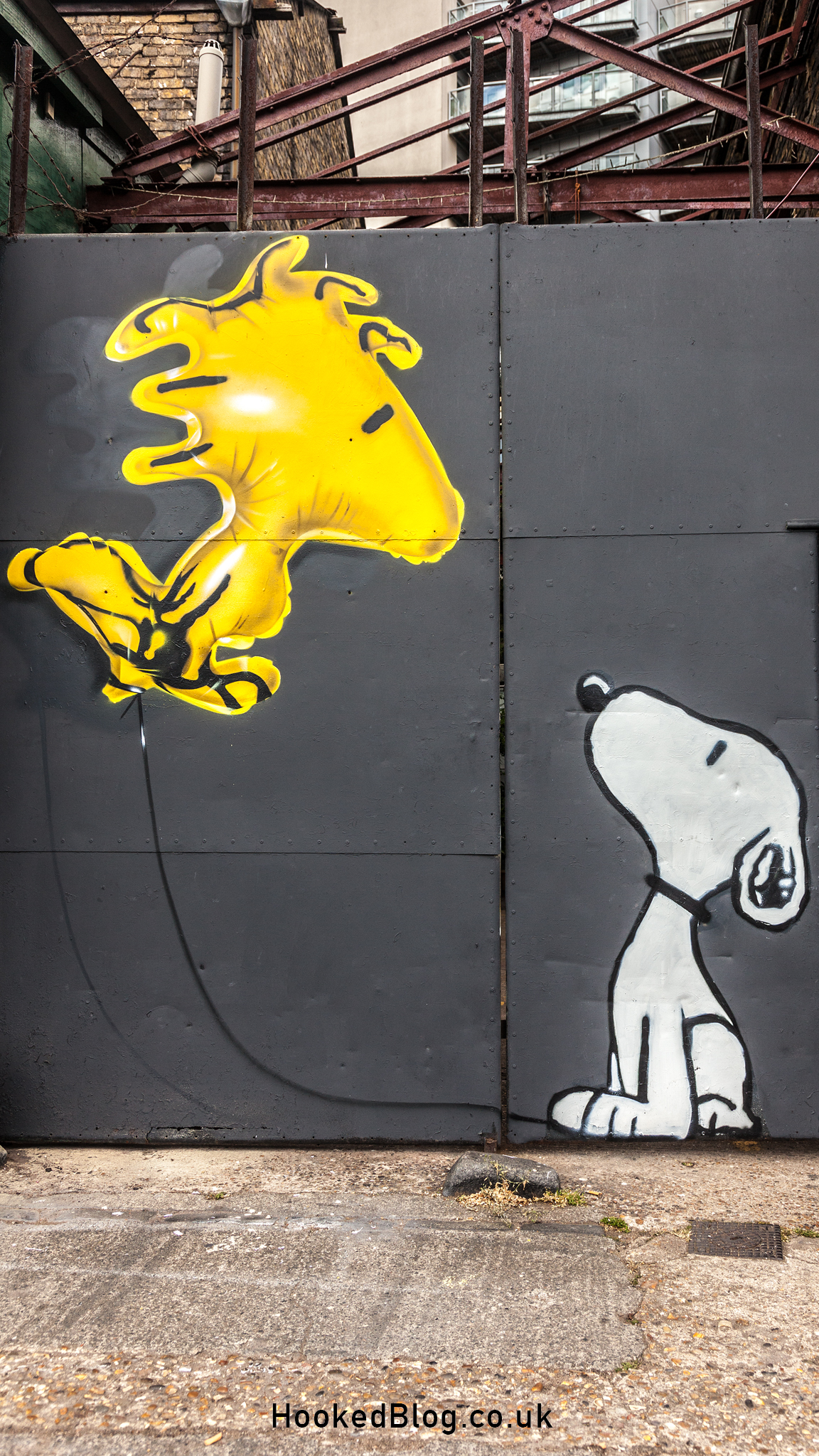 Fanakapan, Woodstock Got High Street Art Mural, London 2017. Photo © Mark Rigney / Hookedblog