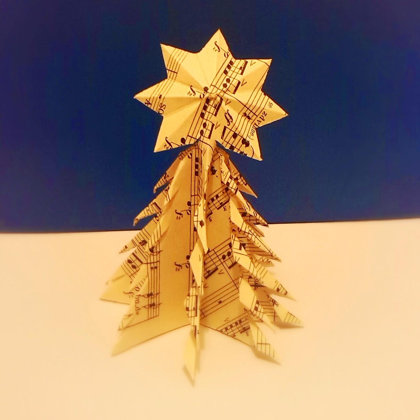 HOLKAMODROOKATA: Papírový vánoční stromeček - photo#42