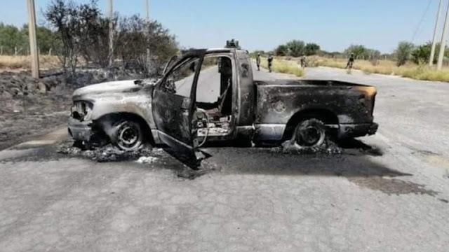 Decían que eran bien gallos y así quedaron, elementos de la Milicia Mexicana así dejan una camioneta de 4 integrantes del CDN- Metros donde 4 perdieron la vida