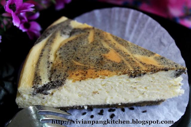 Vivian Pang Kitchen Black Sesame Marble Cheesecake Gluten