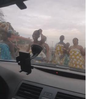Drama As Topless Women Troop Out To Pray In Abeokuta against Coronavirus (Video)