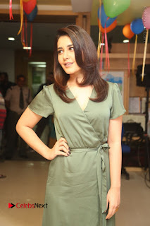 Actress Raashi Khanna Stills in Green Short Dress at Mirchi 95 Suno Aur Mercedes Jeeto Contest  0066.JPG