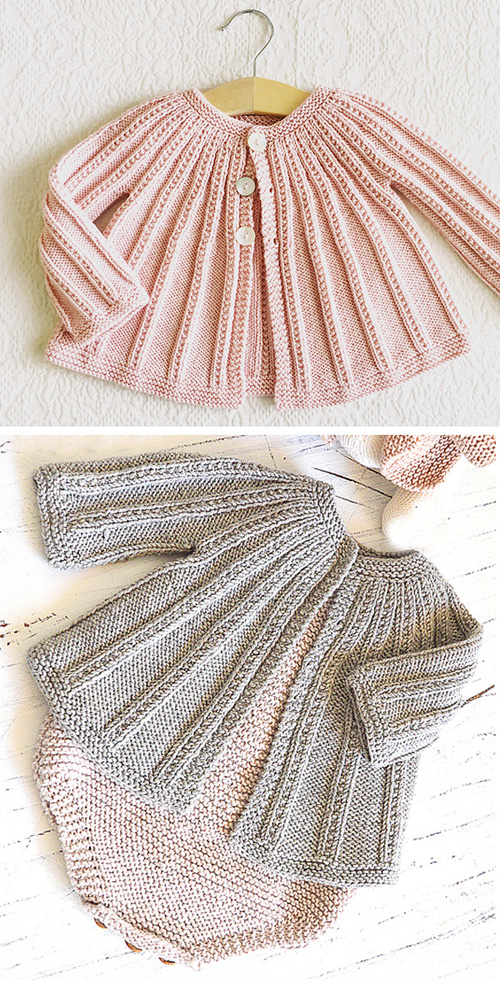Baby Cardigan and Romper - Knitting Pattern