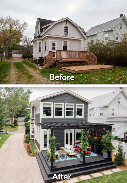 Before After Backyard Renovation Ideas Pictures 1