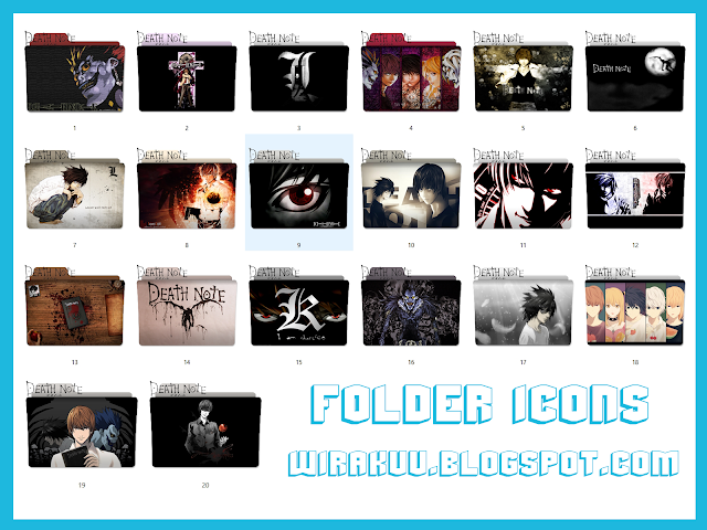 20 Folder Icons Anime Death Note (Windows 7, 8, 10)