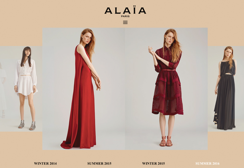 Azzedine Alaia collections and videos available online / fashion news via www.fashioendbylove.co.uk