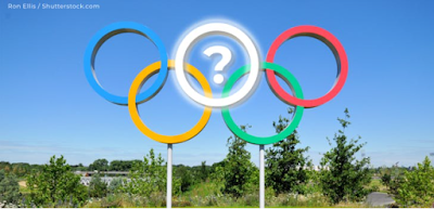 The Olympic symbol uses five colors for its rings. Which color is missing: Red, Blue, Green, Yellow, and _____?