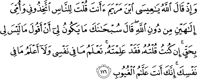 Surat Al-Maidah Ayat 116