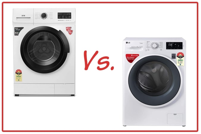 IFB Neo Diva BX (left) and LG FHT1006ZNW (right) Washing Machines.