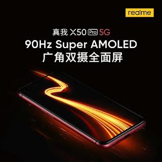 Smartphone Realme X50 Pro 5G menghadirkan fitur layar Super AMOLED 90Hz