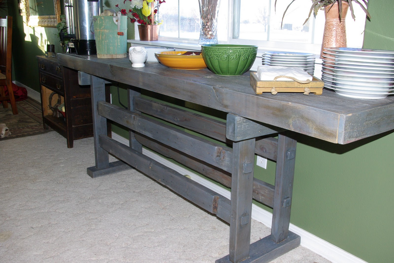Reclaimed Rustics Serving Table