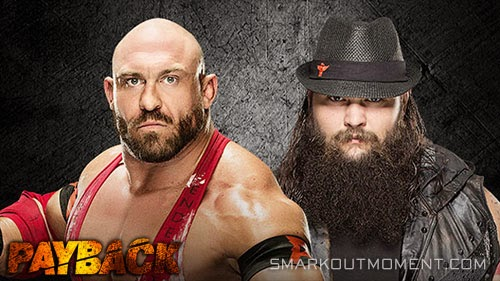 WWE Payback 2015 Bray Wyatt vs Ryback Match
