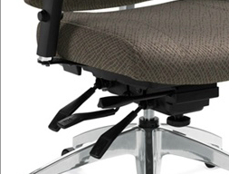 Office Chair Mechanism With Paddle Controls