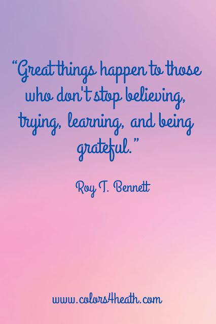 Gratitude Quote at Colors 4 Health