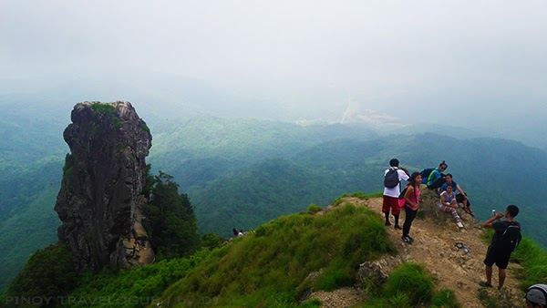 View of Pico de Loro's monolith from the summit