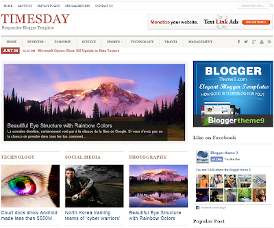 TimesDay Responsive Blogger Template