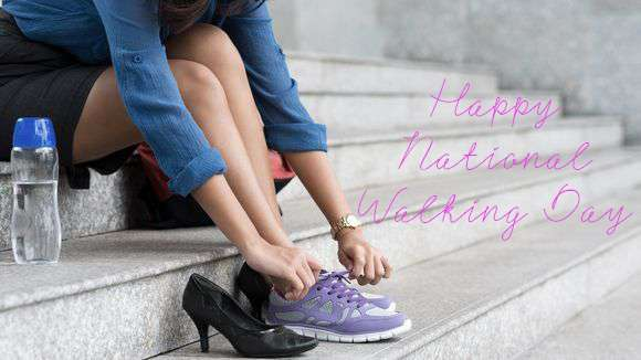 National Walking Day Wishes Awesome Picture