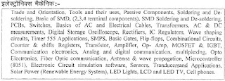 RSMSSB Junior Instructor Electronics Mechanic Syllabus